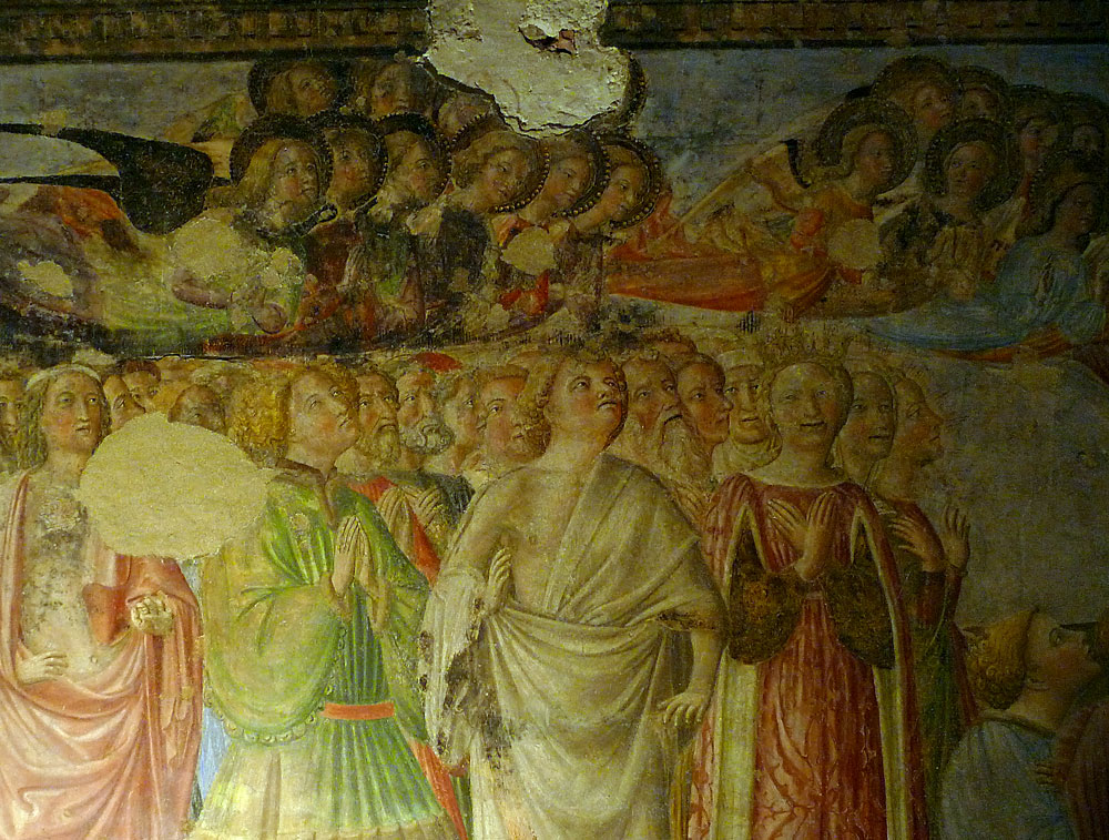 From the scaffold - close up fresco